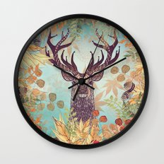 THE FRIENDLY STAG Wall Clock