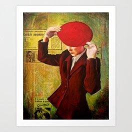 Red Beret Art Print