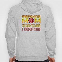 Thin Red Line Firefighter Mom Fireman Professional Firefighter Hero I Raised Mine Hoody