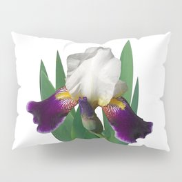 Violet and white Iris 'Wabash' Pillow Sham