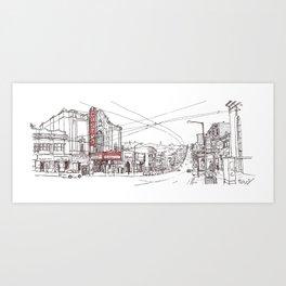 Castro Street, SF Art Print