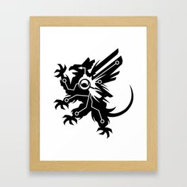 Tech Griffin Framed Art Print