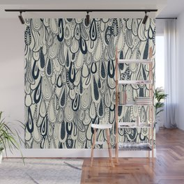 droplets indigo pearl Wall Mural