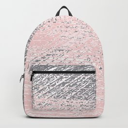 Pink Pastel and Grey Background Backpack