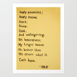 Empty Promises Art Print