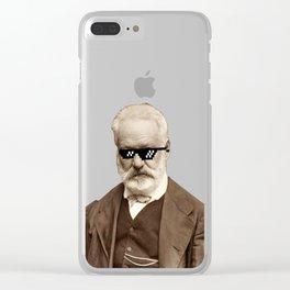 Thug Victor Hugo Clear iPhone Case