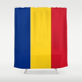 Flag of Romania Shower Curtain