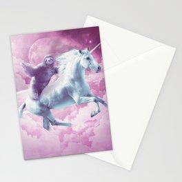 Epic Space Sloth Riding On Unicorn Stationery Cards