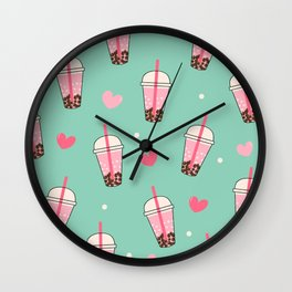 Boba Tea Love Wall Clock