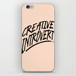 The Creative Introvert iPhone Skin