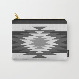Aztec - black and white Carry-All Pouch
