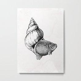 Vintage Fish Metal Print