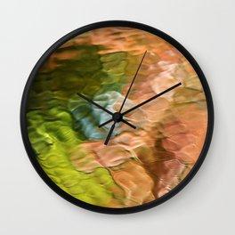 Salmon Mosaic Abstract Art Wall Clock