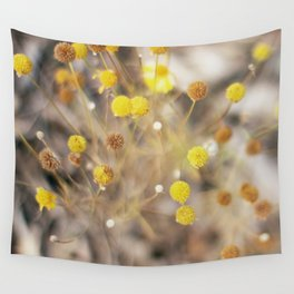 Abstract Botanical - Billy Buttons Wall Tapestry