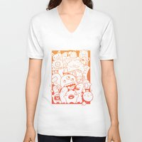 it crowd V-neck T-shirts featuring Monster crowd by dreadpen