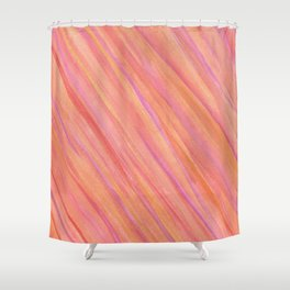 Saturn Pink Shower Curtain