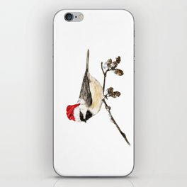 Christmas Bird in Winter iPhone Skin