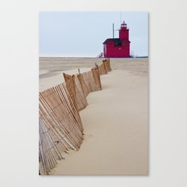 The Lighthouse Big Red in Holland Michigan Canvas Print