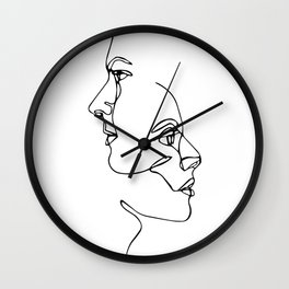 Love and Emotion Minimal line Wall Clock