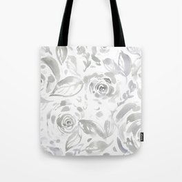 Lillian Gray Floral Tote Bag