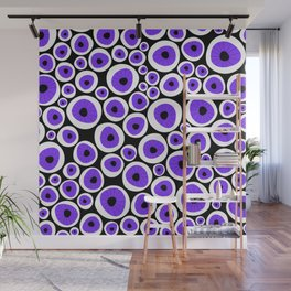 Eye C U | Purple Wall Mural