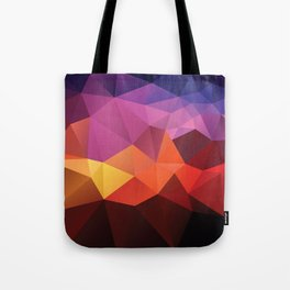 Abstract geometric triangle background Tote Bag
