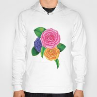 peonies Hoodies featuring Peonies by Shian Tan