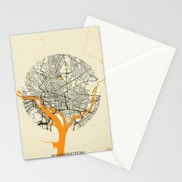 Washington Map Moon Stationery Cards