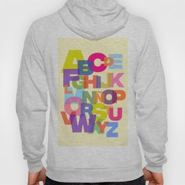 Colorful Abecedary Hoody