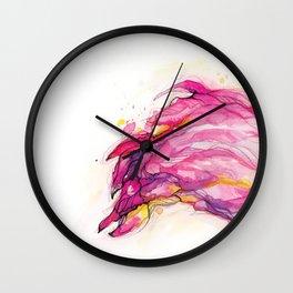 Isla's Flamingo Wall Clock