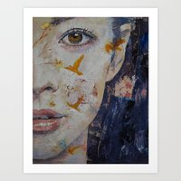geisha Art Prints featuring Geisha by Michael Creese