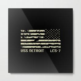 USS Detroit Metal Print