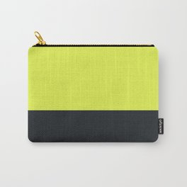 lime yellow and black grey Carry-All Pouch