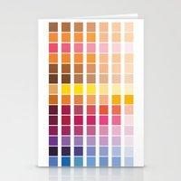 pantone Stationery Cards featuring pantone by Natasha79