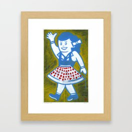 "Miss Snapper (2010), 17"" x 27"", acrylic on gesso on chipboard Framed Art Print"