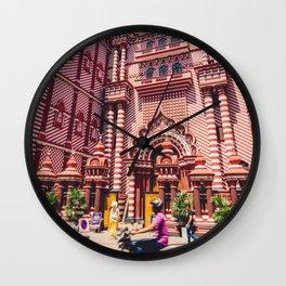 Jami-Ul-Alfar Mosque (Red Mosque) Colombo, Sri Lanka Wall Clock