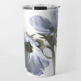 Single flower print - Blue Poppy Travel Mug