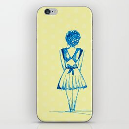 blue girl iPhone Skin