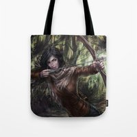 katniss Tote Bags featuring Katniss by jasric