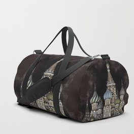 Saint Basil's Cathedral - red sky, Moscow, Russia Duffle Bag