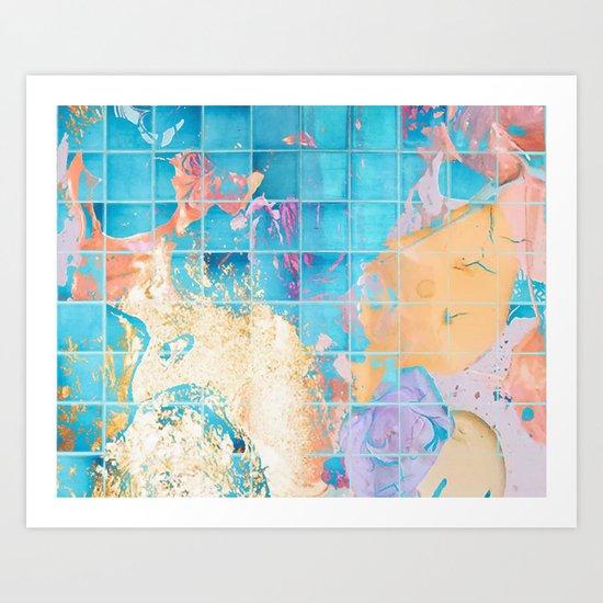 Mosaic Paint Spill V2 #society6 #decor #buyart Art Print
