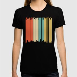 Retro 1970's Sacramento California Downtown Skyline T-shirt