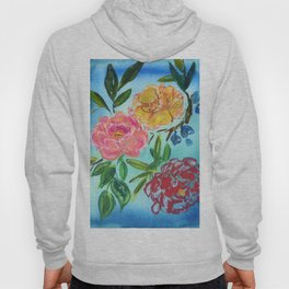 floating flowers: abstract peony Hoody