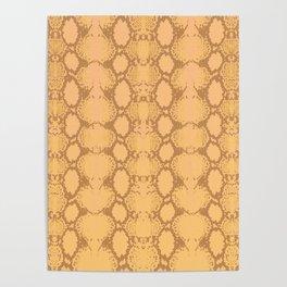 yellow snake skin minimal Poster