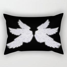 White Archangel Wings Rectangular Pillow