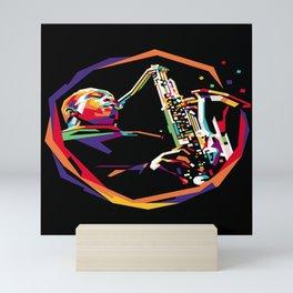 Jazz WPAP 01 Mini Art Print