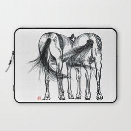 horses talking Laptop Sleeve