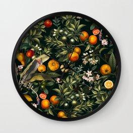 Vintage Fruit Pattern XXII Wall Clock