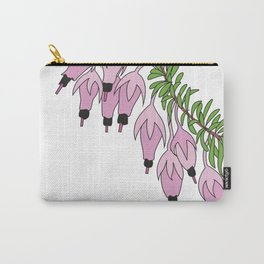 heather pink flower Carry-All Pouch