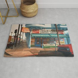 The Van Ness South Grocery 17 & SVN San Francisco 1994 Rug